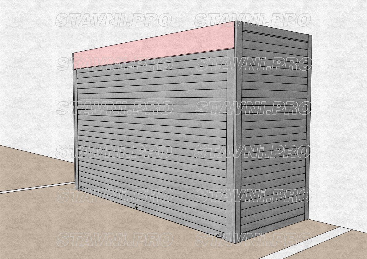 Короб рольставней внутри роллетного шкафа