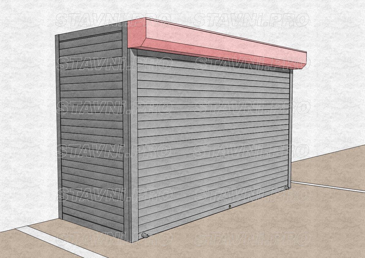 Короб рольставней с внешней стороны шкафа