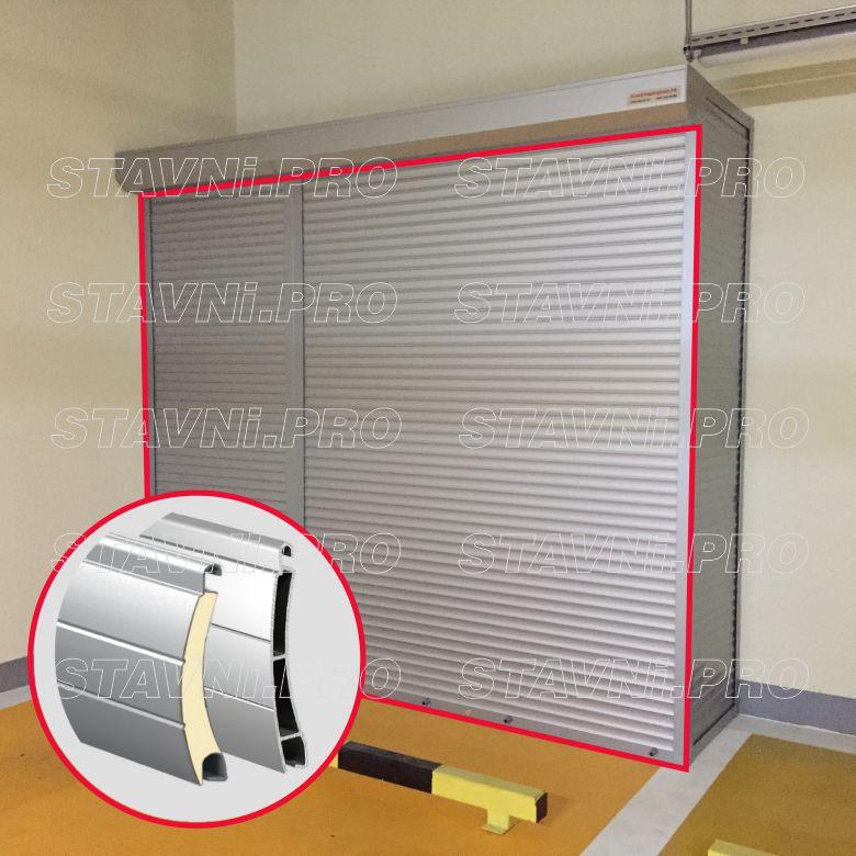 Алюминиевый профиль для изготовления рольставней и стенок шкафа для паркинга