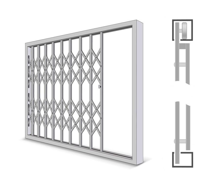 Усиленная раздвижная металлическая решетка
