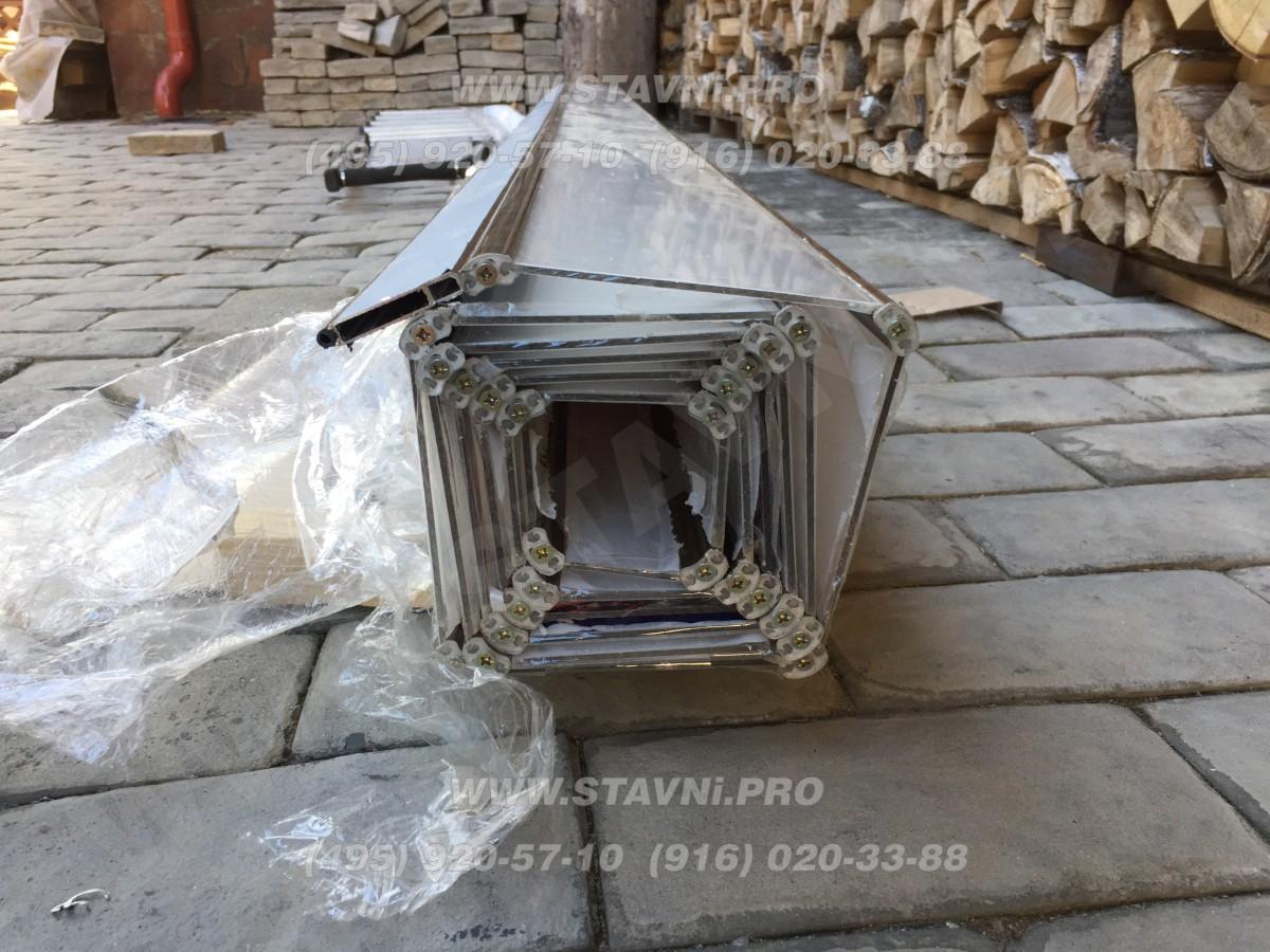 Квадратный рулон рольставней из поликарбоната