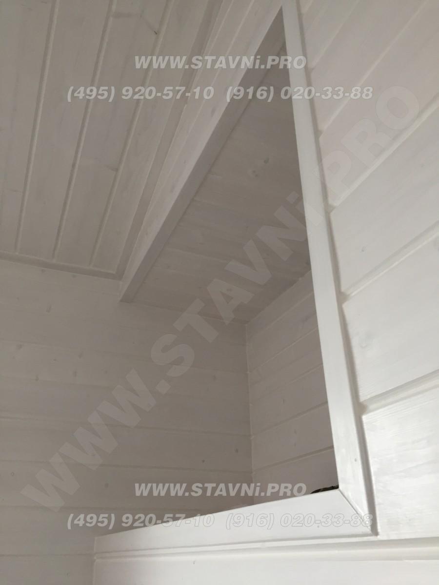Вид слева на проем ниши для монтажа мебельной рольставни