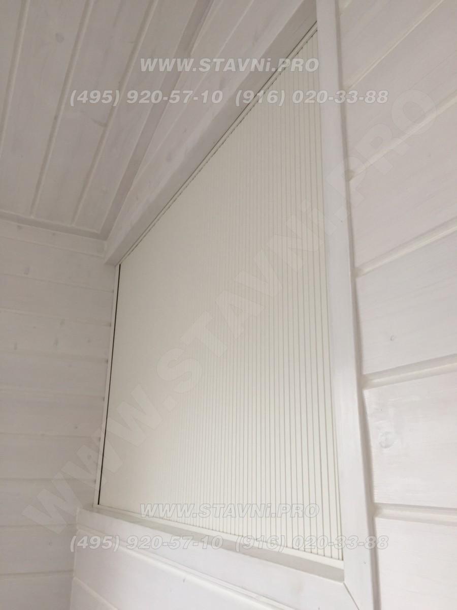 Пластиковое полотно мебельной роллеты белого цвета
