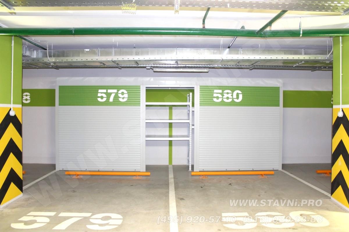 завершенный проект роллетнного шкафа в подземном гараже жилого комплекса садовые кварталы