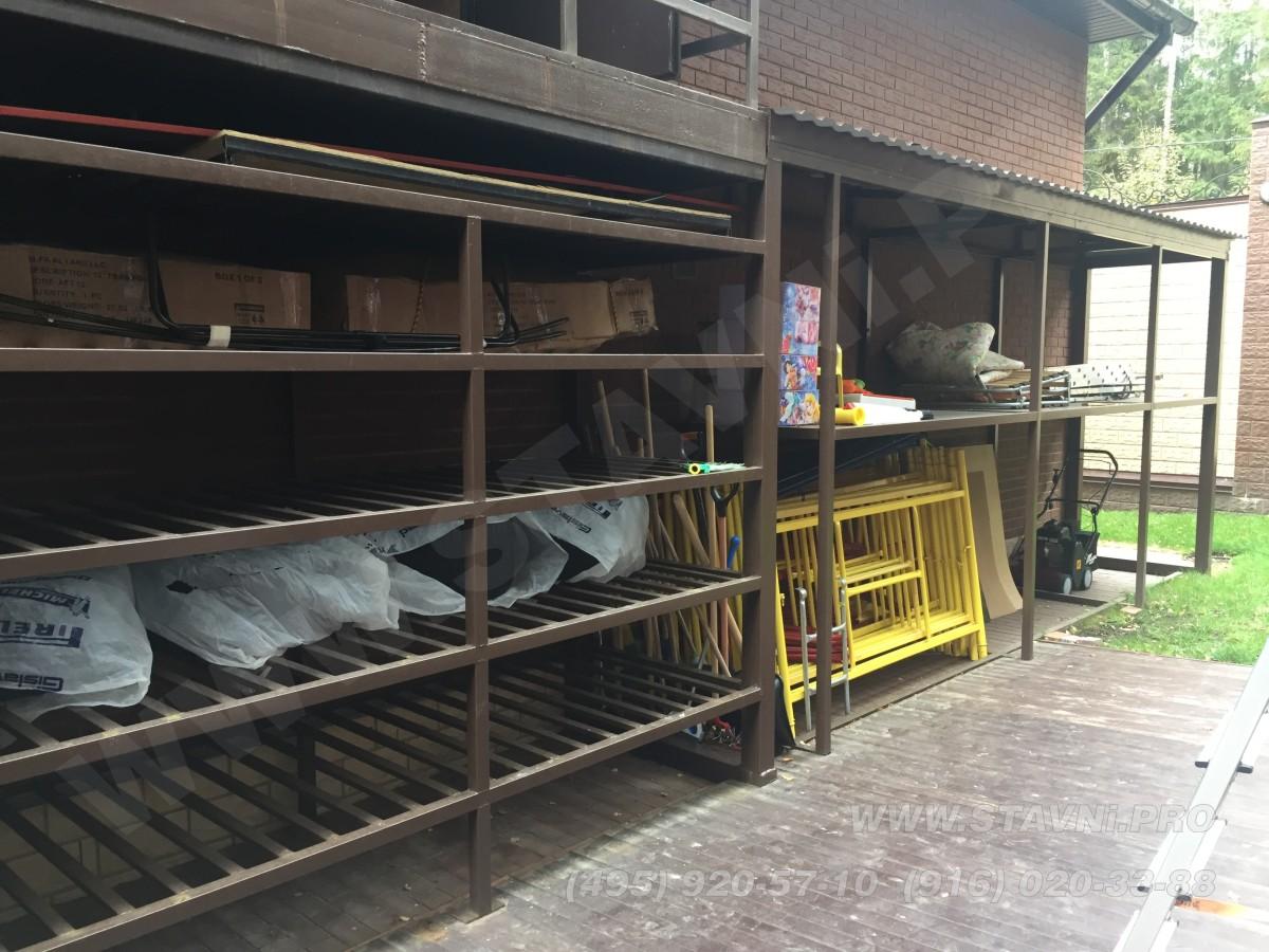 Проект роллетного шкафа с закрытыми рольставнями на парковке в ЖК Садовые кварталы