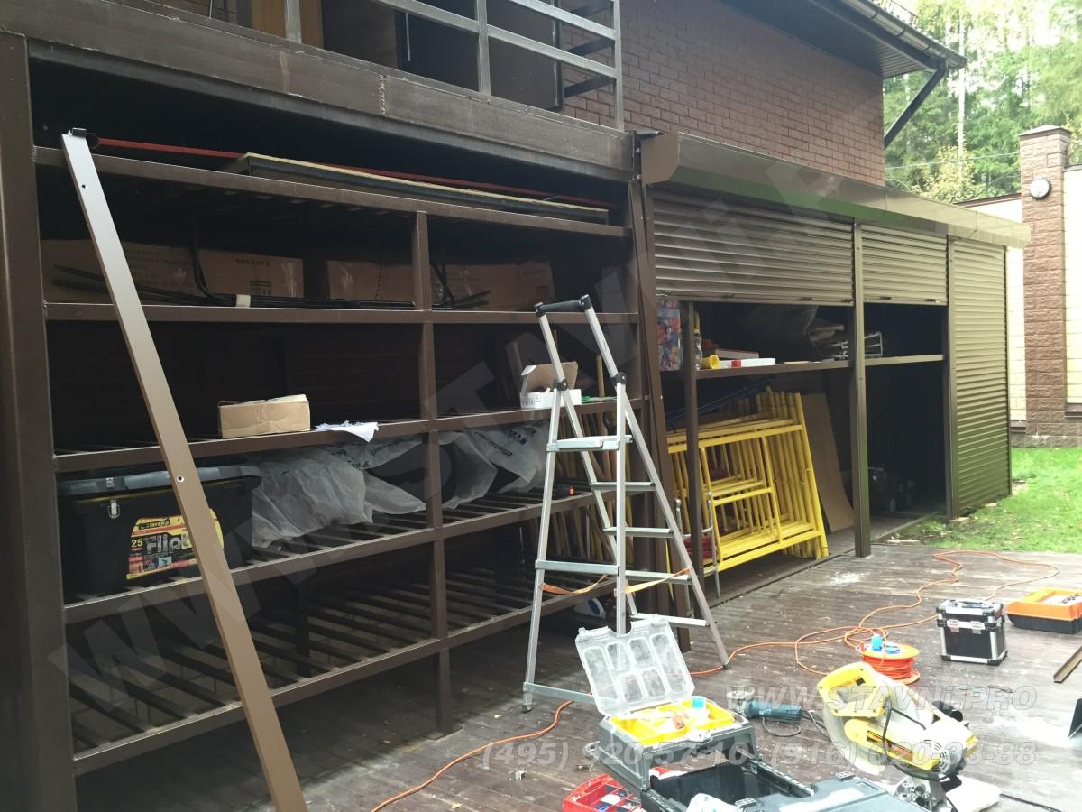 Глубина стеллажа и роллетного шкафа в садовых кварталах