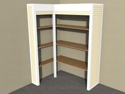 Мебельные рольставни для шкафов и ниш