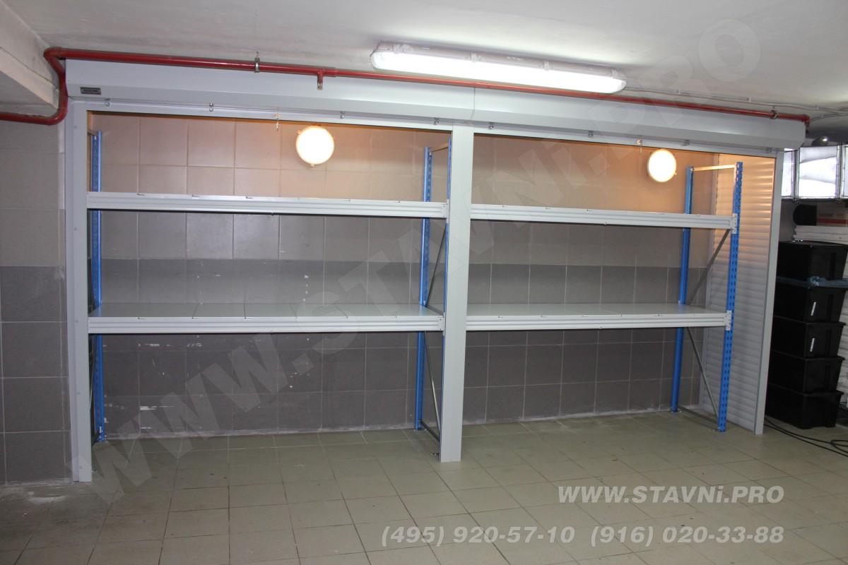 Качественные стальные стеллажи с полимерным покрытием
