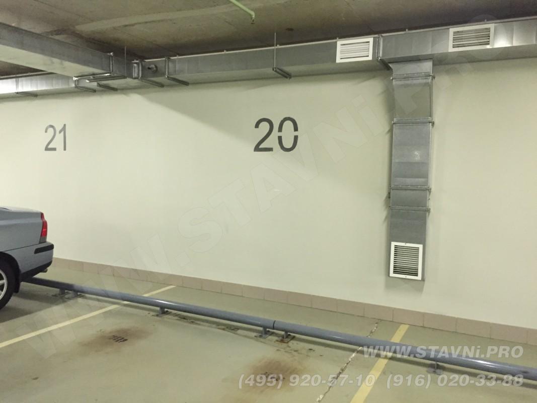Пустая стена для монтажа шкафа с рольставнями