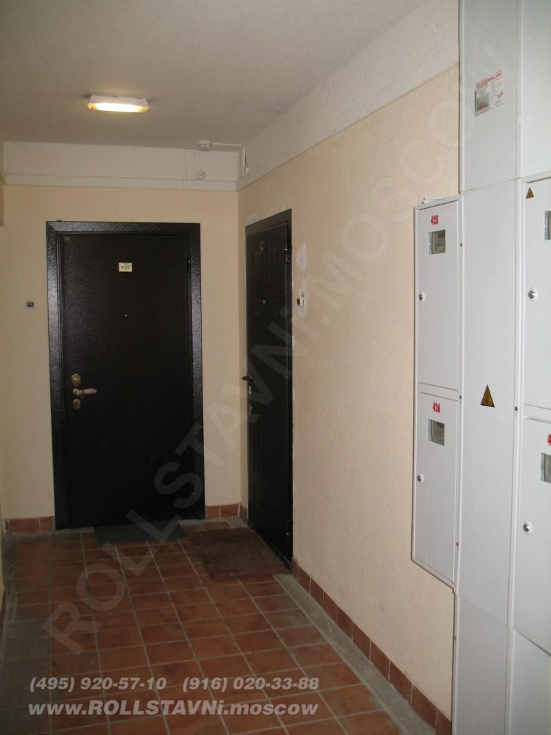 Шкаф из роллетных комплектующих и полок из дсп в Химках