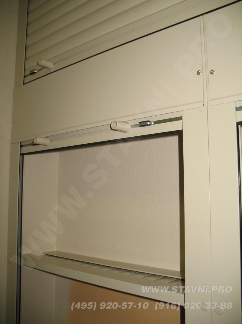 мебельный роллетный шкаф с полками от компании стинер