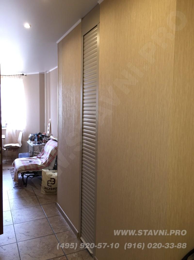 Рольставня установлена заподлицо с внешней стеной