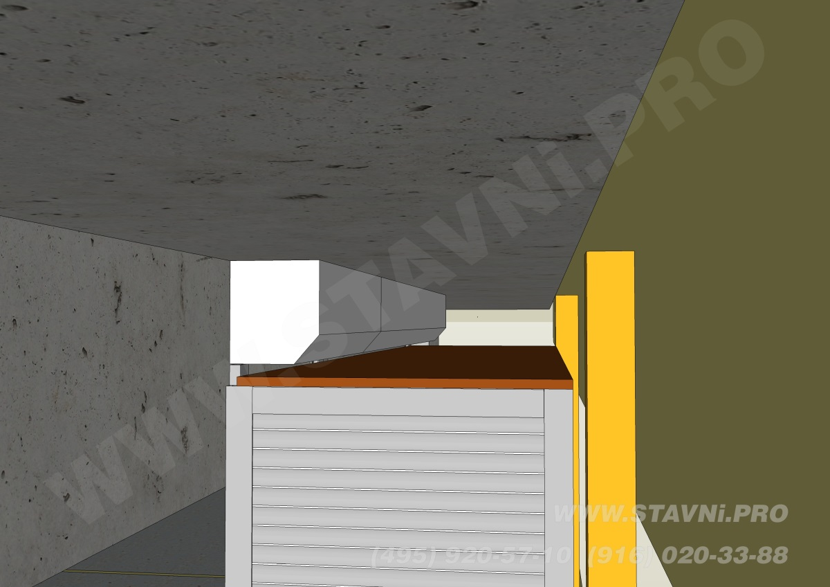 эскиз короб роллетного шкафа