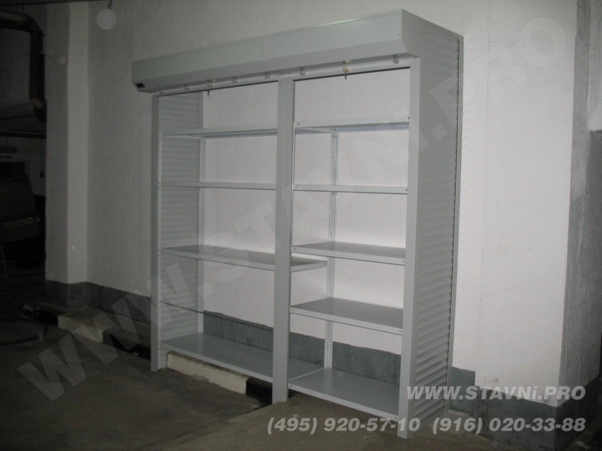 Двух роллетный неглубокий шкаф в гараже