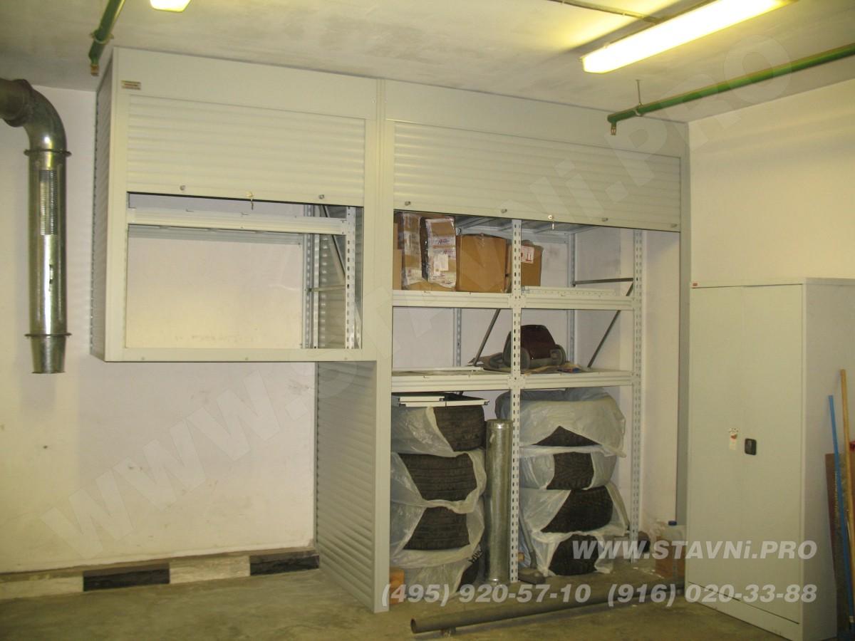 Сдвоенный роллетный шкаф в подземной автостоянке