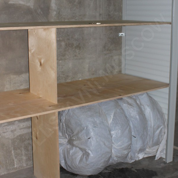 Полки роллетного шкафа из водостойкой фанеры