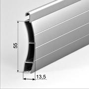 Автоматические рулонные въездные ворота из антивандального алюминиевого профиля AER55mS