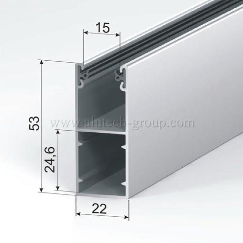 Стандартная направляющая рольставни GR53x22i/eco