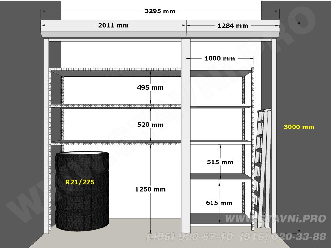 Предварительный эскиз роллетного шкафа для места 553 в ЖК Скайфорт