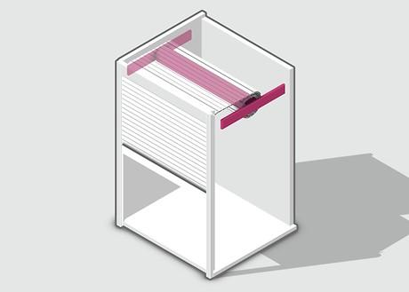 Вертикальные жалюзи Рауволет Рехау с пружинным механизмом
