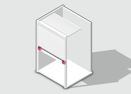 Система компенсации веса полотна жалюзи - Вертикальный тормоз VB