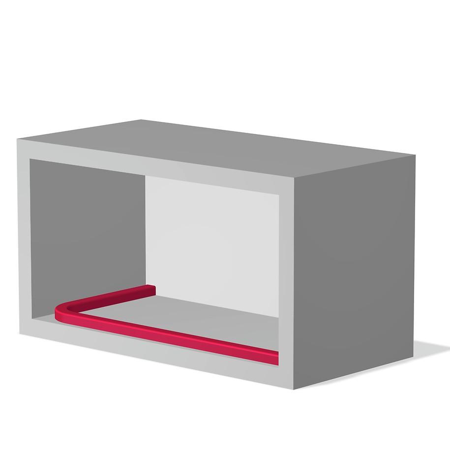 Накладной монтаж направляющих на ровную поверхность