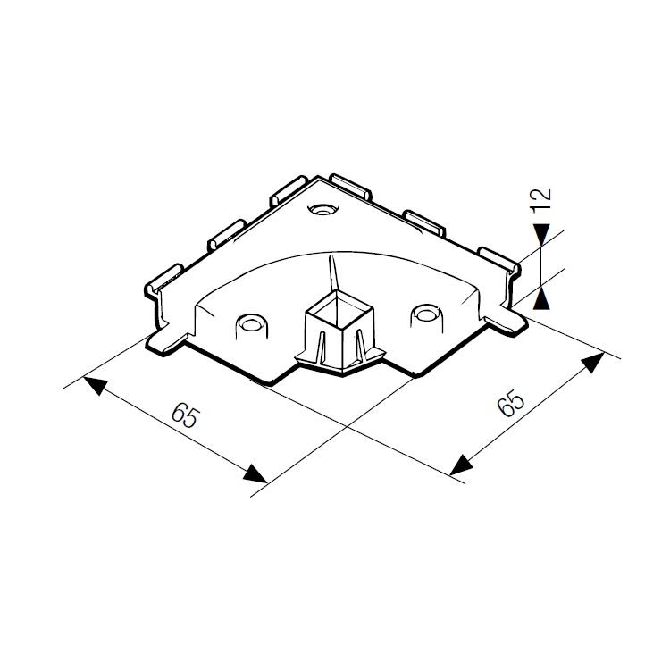 Угловой поворотный соединитель системы frame