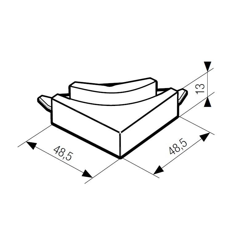 Угловой поворот соединитель системы TOP BASIC