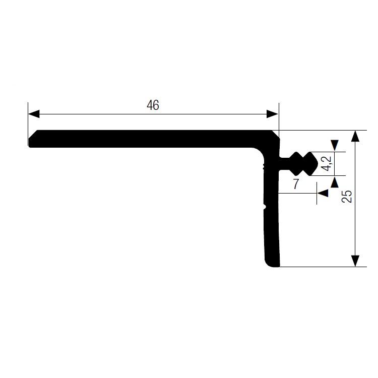 Декоративная планка для линеек Decor-line и Color-line