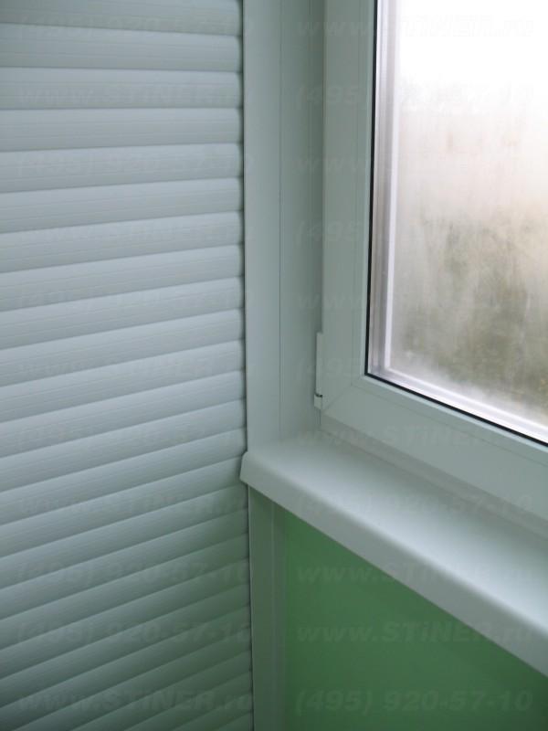 закрытие расстояния между окном и роллетной направляющей и стеклопакетом