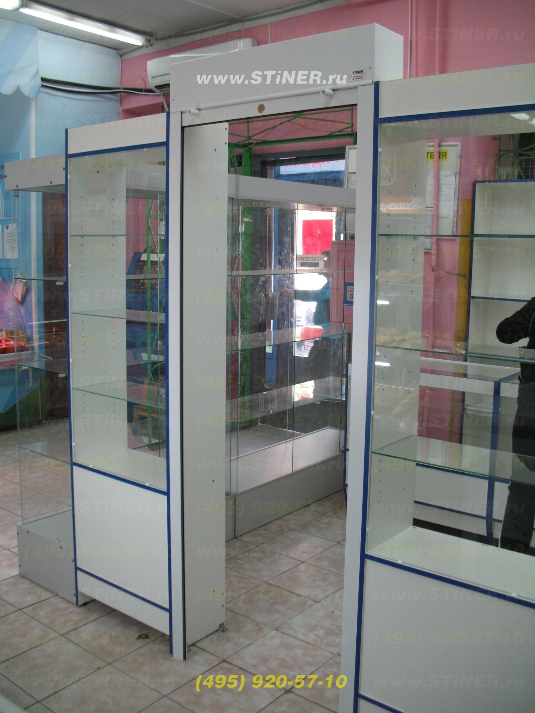 Роллета на торговый шкаф в магазине в Химках