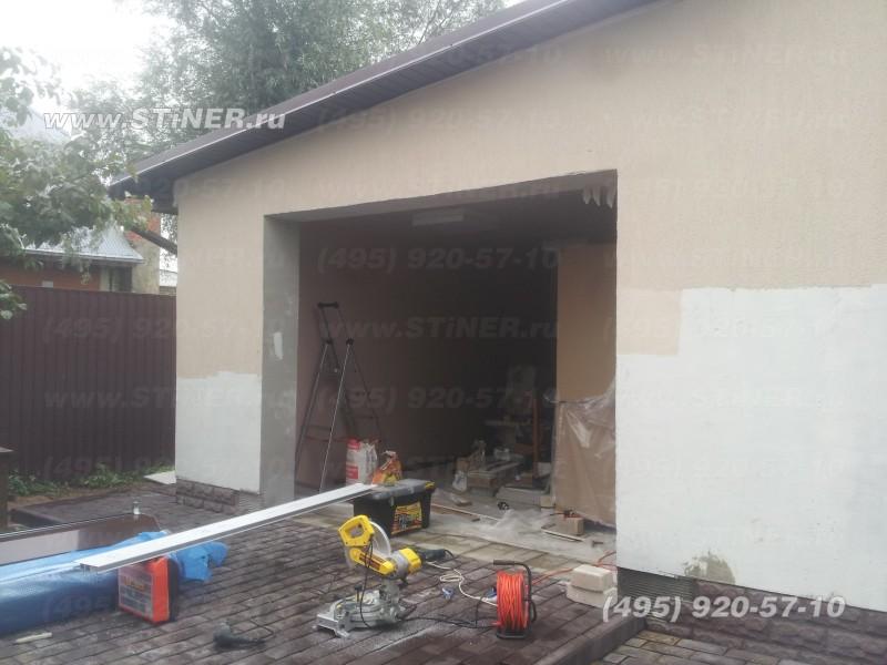 ворота для гаража из воротного алютеховского профиля AG77 НараФоминск
