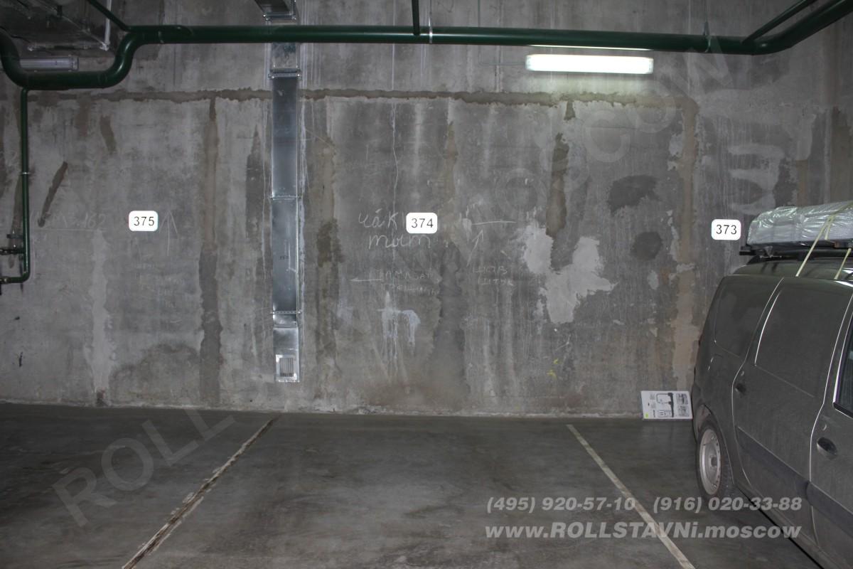 парковочное место для установки шкафа с рольставнями