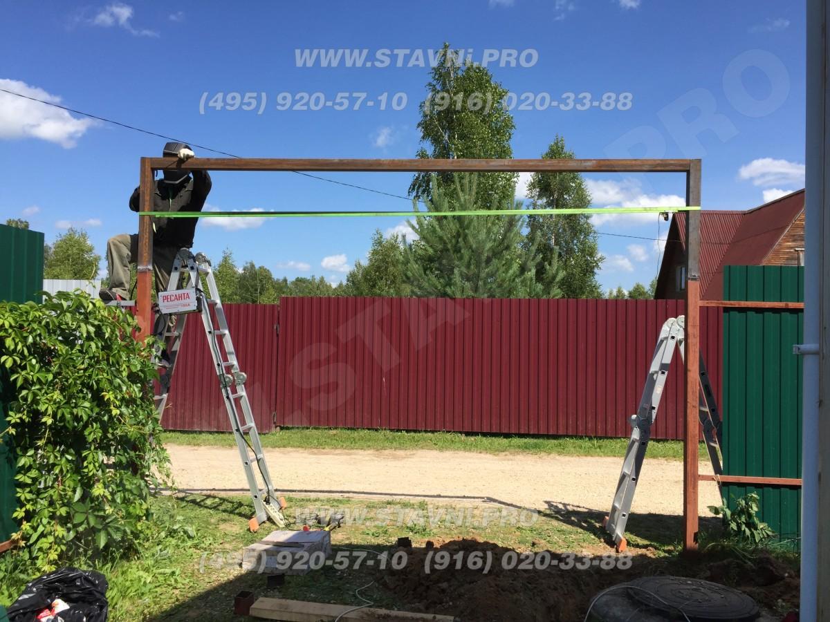Монтаж въездных рулонных ворот в Сатино (Калужская обл.)