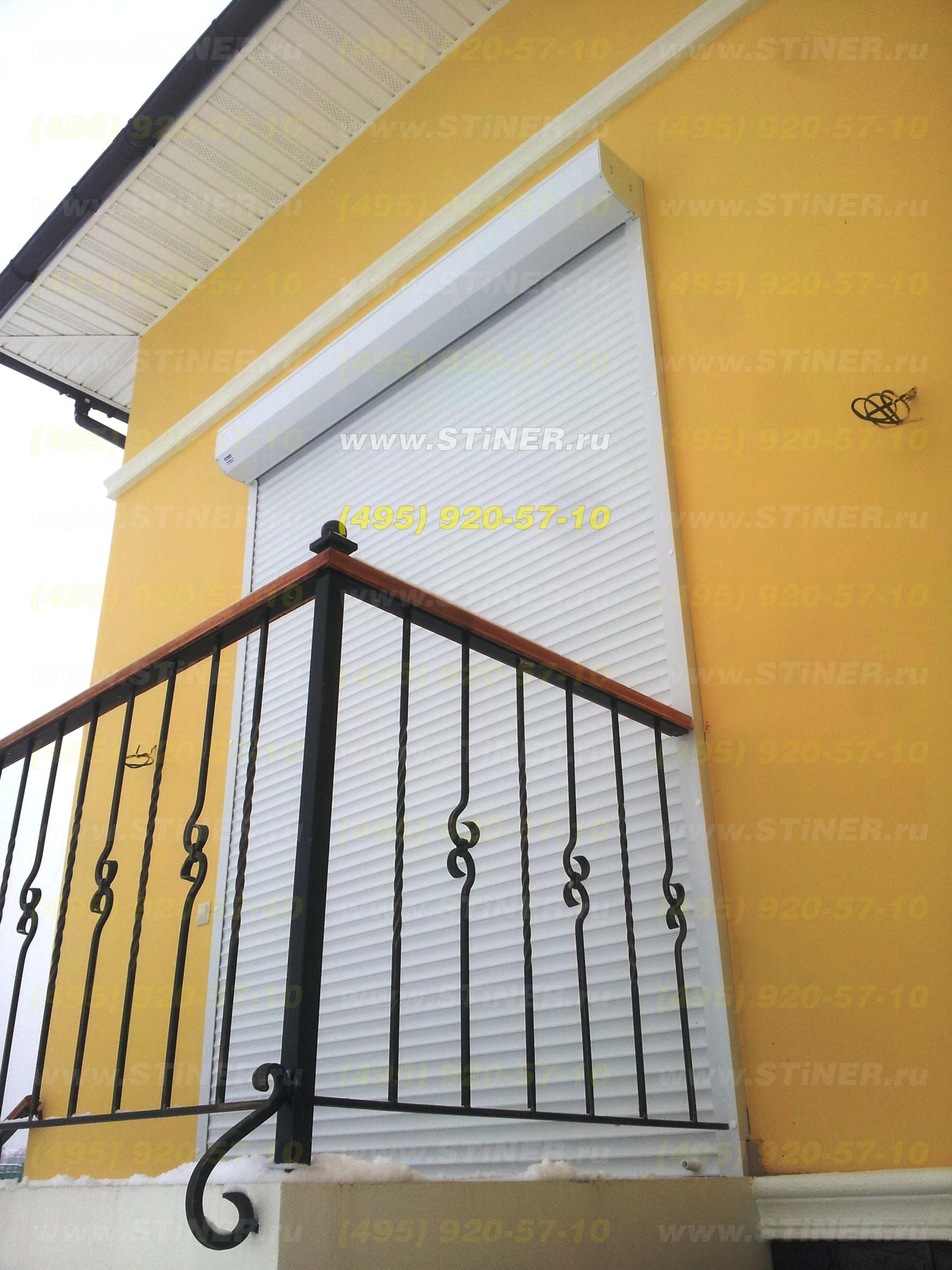 Раольставни для защиты дачи. Рольставни на балкон цокольного этажа с установкой в Москве и области