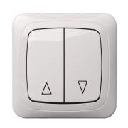 Защитная электрическая рольставня с клавишным выключателем
