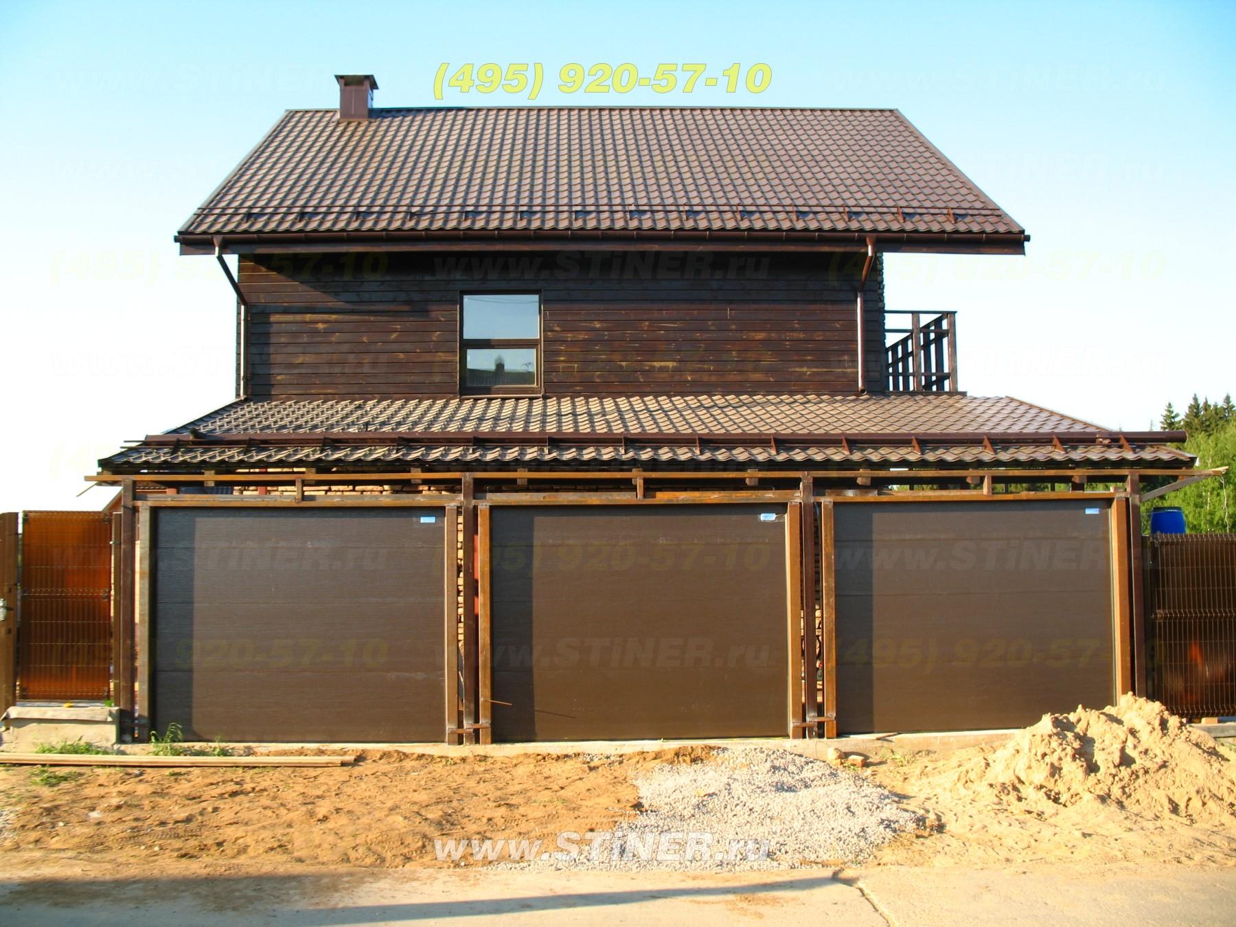 Секционные ворота для гаража серии стандард с пультом ДУ в Истринском районе