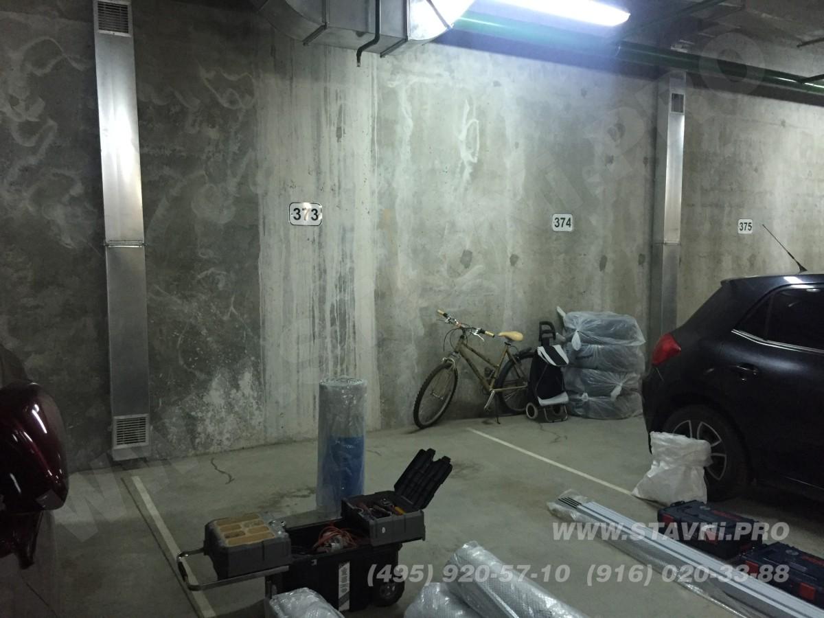 будущий вид шкафа с рольставнями в подземной парковке