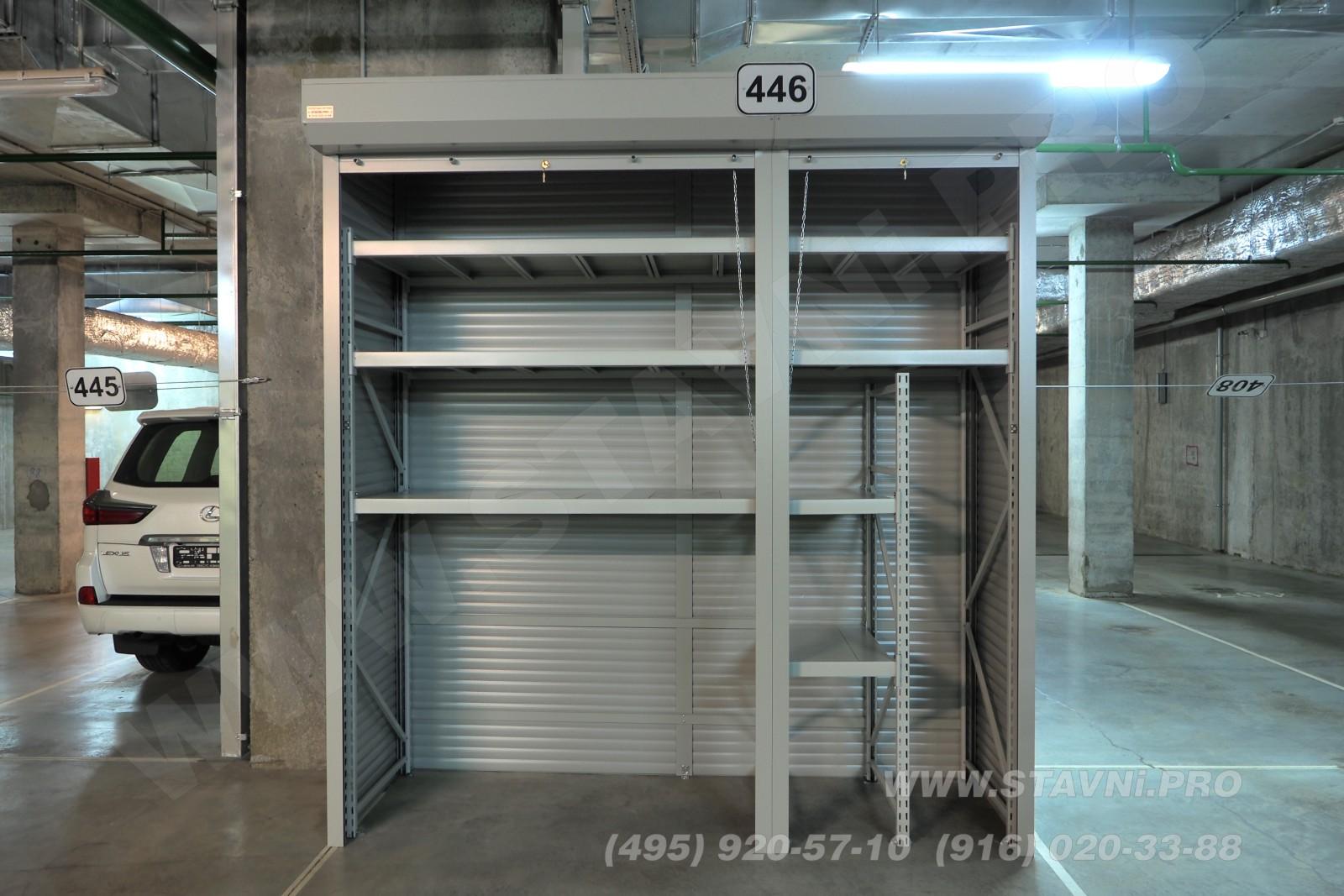 Эскиз - фронтальный вид на шкаф в общем зале парковки ЖК Скайфорт
