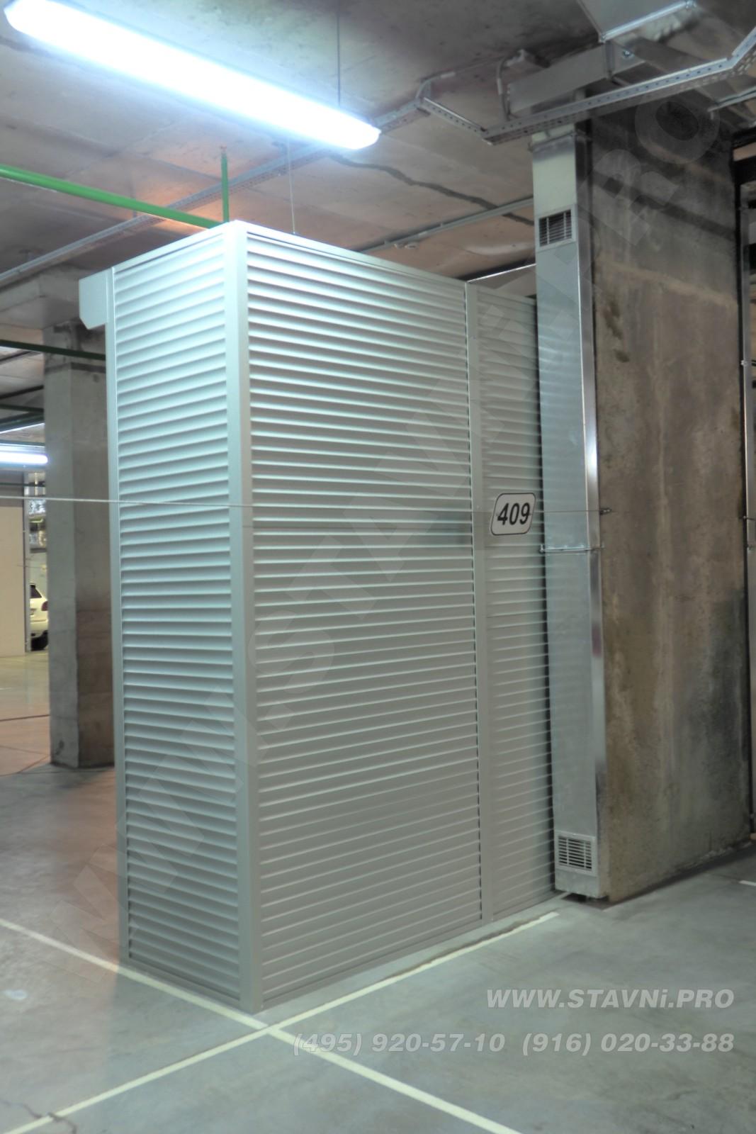 Фотография шкафа в парковке жилого комплекса Скайфорт 1 вид сзади