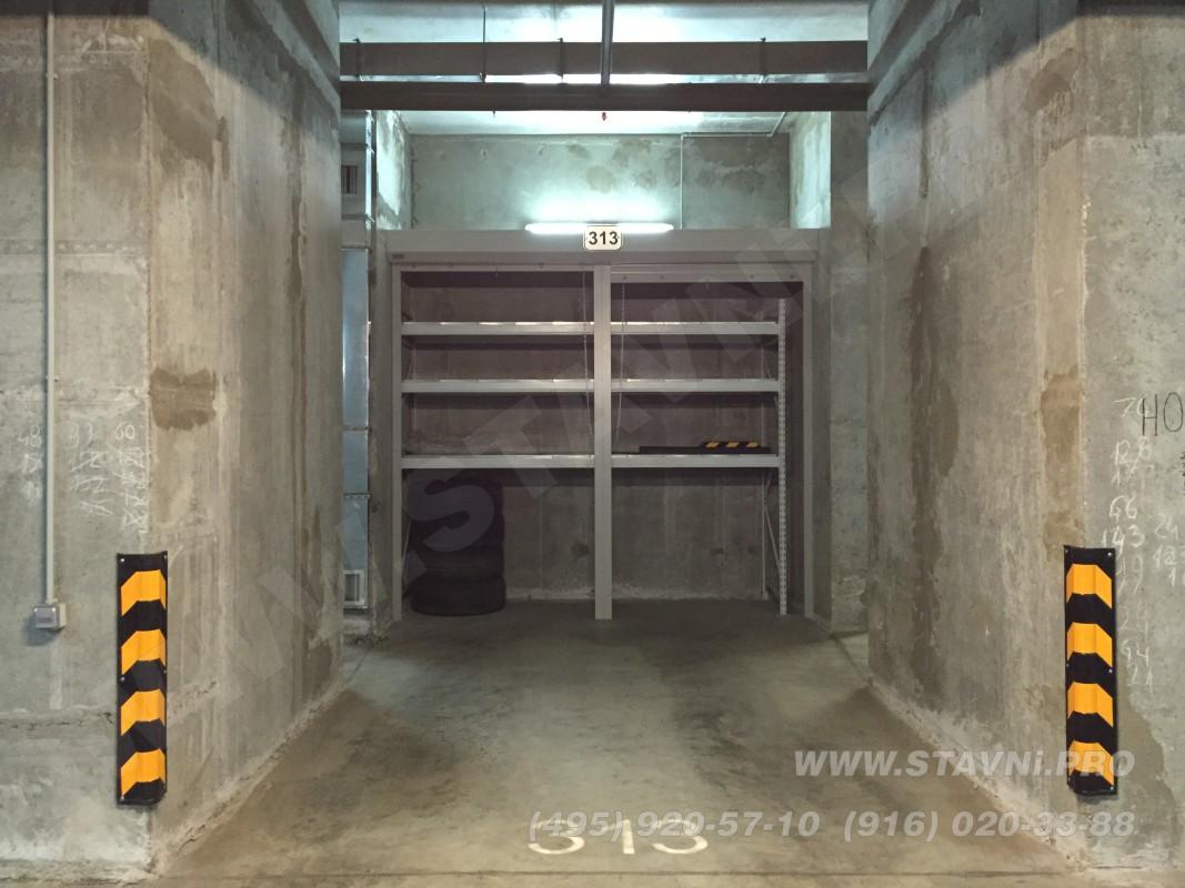 фото смонтированного жалюзийного шкафа