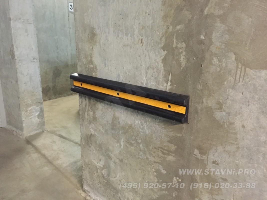 боковая резиновая накладка на стену - демпфер для двери