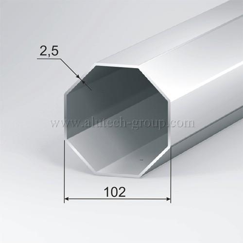 Мощный стальной вал диаметром 102 мм RT102x2,5