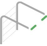 низкий тип монтажа гаражных ворот