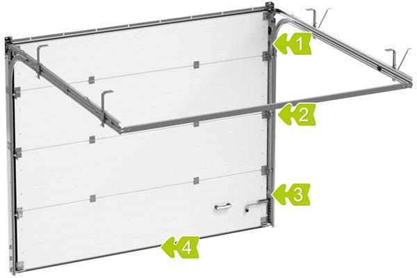 секционные ворота алютех серии стандарт