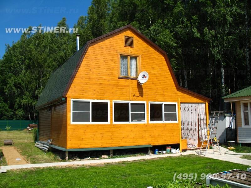 Дачный домик без рольставней